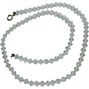 Delicate Vintage Choker of Tiny Faceted Crystal Beads