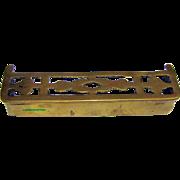 Perfect Antique Miniature Pierced Brass Fender