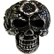 Cool Size 6 Stainless Steel Sugar Skull Ring