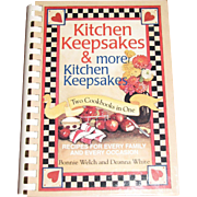 Harris, Kitchen Keepsakes and More Kitchen Keepsakes : Two Cookbooks in One by Bonnie Welch & Deanna White, Like New