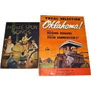 1943, Vocal Selection from Oklahoma! Music by Richard Rodgers Lyrics by Oscar Hammerstein & 1935, Treasure Chest of Home Spun Songs