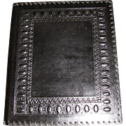 Vintage Italian Hand Tooled Hand Made Leather Music Folder