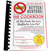 Vintage Butter Busters The Cookbook, Pam Mycoskie, Low Fat Modified Recipes Spiral Bound, Like New