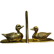 Fun & Sturdy Solid Brass Duck Bookends