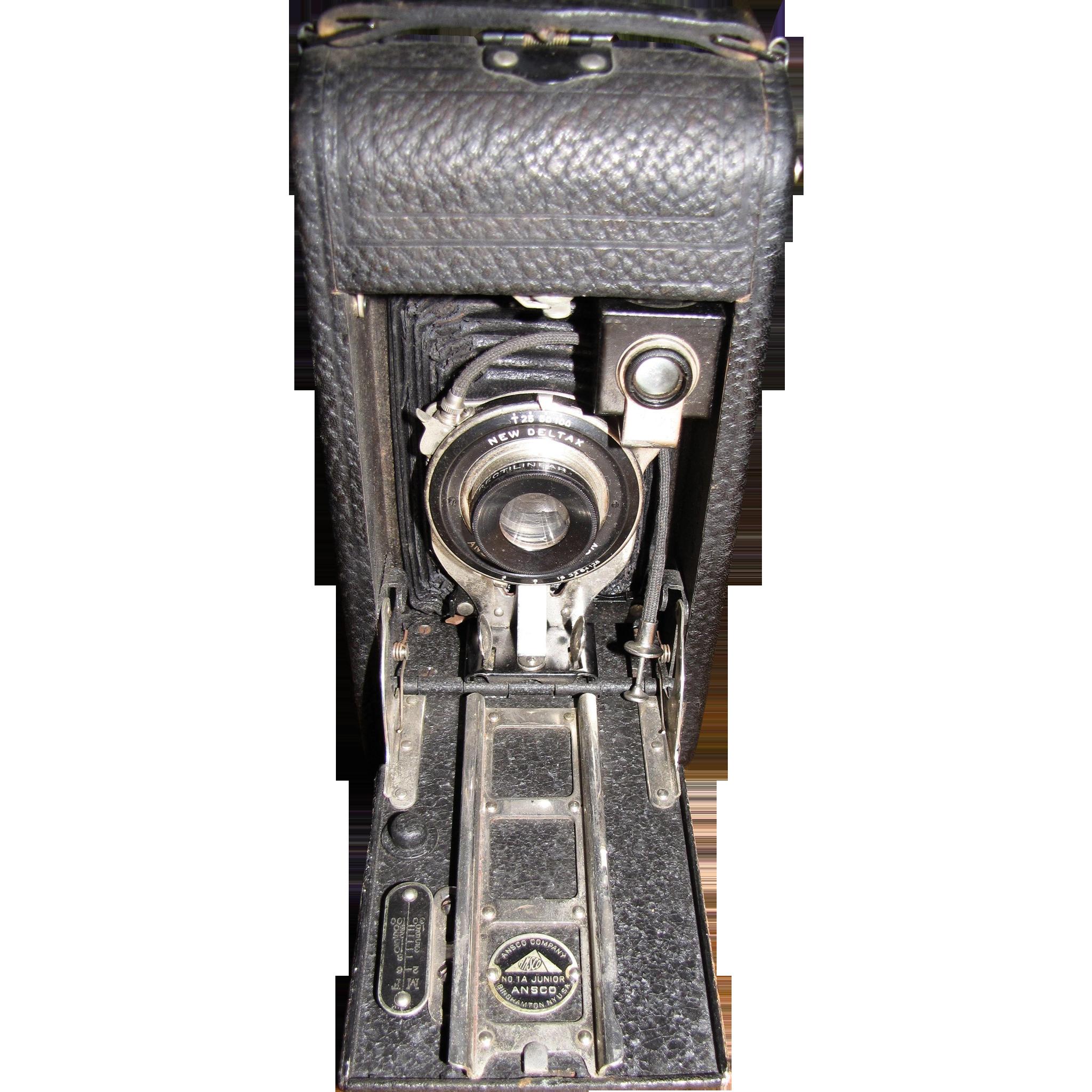 antique number 1a ansco junior folding bellows camera. Black Bedroom Furniture Sets. Home Design Ideas