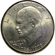 Eisenhower Dollar 1776-1976-D Bicentennial Brilliant Almost Uncirculated US Denver Mint