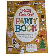 "1960, Betty Crocker's ""Party Book"" Cook Book, 1st Edition, 1st Printing, Illustrated"
