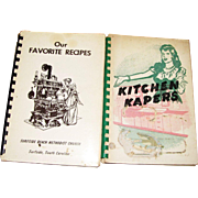 "1950's ""Kitchen Kapers""  & 1960's, ""Our Favorite Recipes"", Both have Local South Carolina Advertisements"