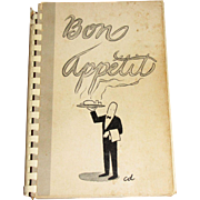 Bon Appetit by Westerly Hospital Aid Association, Westerly, RI, Illustrated by Chon Day, 1964 1st Edition, Scarce!