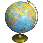 """Vintage Crams 12"""" Imperial World Globe, Nice Vintage Condition, Lovely Bright Colors"""