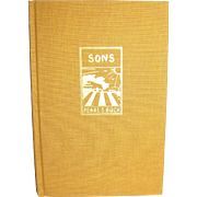 Sons by Pearl S. Buck, 1960 Second Edition, HC, Signed by the Author