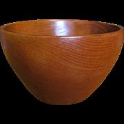 "Huge 12"" Hand Turned Artisan Oak Bowl"