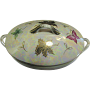 Beautiful Nippon Lustre Butterfly Gilt Small Tureen