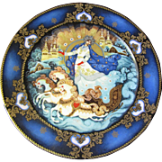 "Russian Fairy Tale ""Winter Majesty"" Cabinet Plate by Tianex of the USSR"