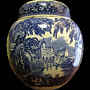 Vintage Masons Blue Vista Ginger Jar