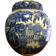 Vintage Masons Blue Vista Ginger Jar