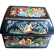 Decorative Russian Fairy Tale Porcelain Trinket Box