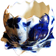 1890's Flow Blue Planter w/ Underplate by Sampson, Handcock & Sons