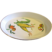 "Royal Worcester Evesham 14"" Oval Baking Dish"
