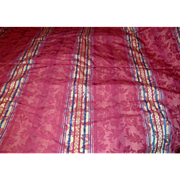 "100"" Remnant of Vibrant Fully Woven Striped Brocade!"
