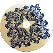 Antique Blue Transfer-ware Small Trivet