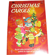 "1969, ""Christmas Carols"" Songbook, Piano Arrangements w/Chord Symbols for  Organ & Guitar, Like New, Beautiful Illustrations"