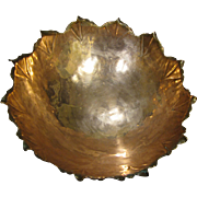 Hand Made Copper Bowl by Modernist Designer Alfredo Sciarrott