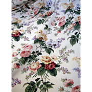 6 1/2 Yd Bolt End of 16 Color Floral Screen Printed Cotton by Waverly