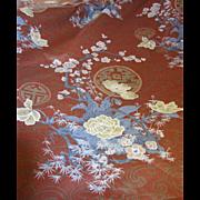 8 1/2 Yard Bolt End of Glazed Cotton Japanese Cherry Blossom Design Fabric