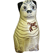 Charming Naive Hand Made Pug Dog Figurine