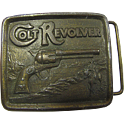 1976 Colt Revolver Belt Buckle Made in USA by Indiana Metal Crafts