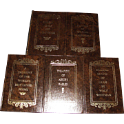 Set of Five Avenel Books - Sonnets of William Shakespeare, Aesop's Fables, Leaves of Grass, Worlds Best Loved Poems, Sonnets From The Portuguese - Like New