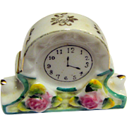 Miniature Porcelain Clock, Occupied Japan, Doll Room Perfect!