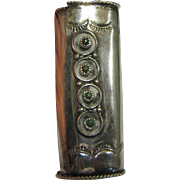 Vintage Native American Handcrafted Sterling Silver Lighter Case
