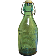 Vintage Milk Bottle, Thatcher's Dairy, Aqua Blue, Glass Bottle, Near Mint