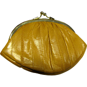 Mint Vintage Eel Skin Change Purse by Lee Sands
