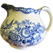 16 Oz Pitcher in Bristol Blue by Crown Ducal