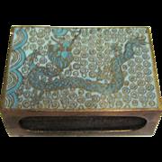 Antique Chinese Cloisonne Enamel Dragon Match Box circa 1900