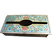 Persian Style Floral Design Metal Tissue Box Cover by Daher