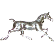 Delicate & Petite Vintage Sterling Running Horse Pin, 1 Gram (2 available)