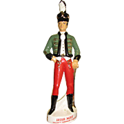 Large Irish Mist Porcelain Soldier Decanter or Bottle, Made in Italy