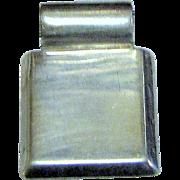 "Heavy Sterling Silver Engravable 1"" Slide Pendant, 9 Grams"