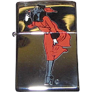 "Vintage Zippo Lighter, Re-issue of the 1935 Varga Girl, ""Windy"", Made in the USA, Mint"