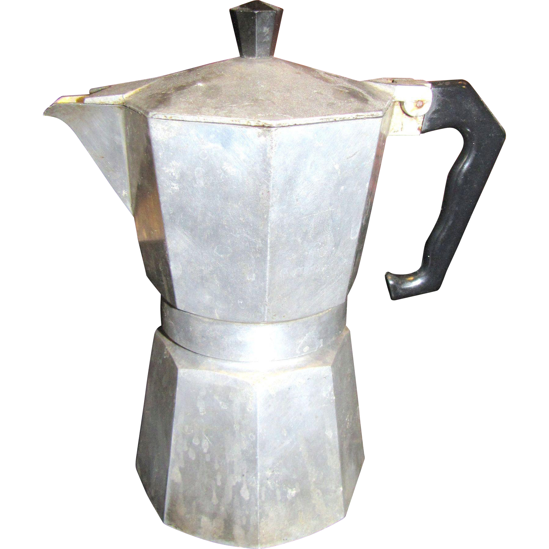 Antique Italian Coffee Maker : Vintage Italian Aluminium Stovetop Espresso Coffee Maker by Morenita from faywrayantiques on ...