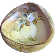 Beautiful Hand Painted Nippon Master Nut Bowl