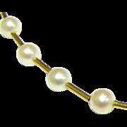 "Delicate Vintage 14K Gold & Freshwater Pearl 18"" Choker, Bridal!"