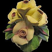 Prettiest Capodimonte Rose Bowl Ornament