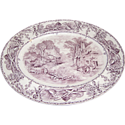"Massive 16"" Platter, Pastoral Davenport Pattern by Wilkinson of England"
