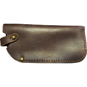 Hand Made Oiled Leather Spectacle Case w/ Solid Brass D Ring
