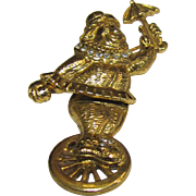 Amusing Clown on Unicycle Articulated Rhinestone Pin